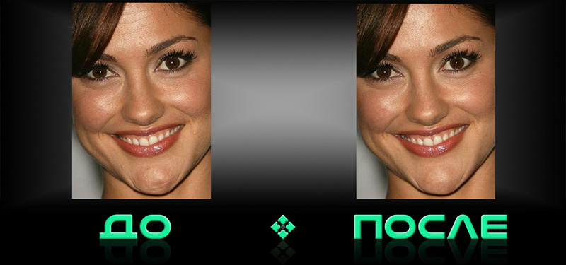 Убрать морщины на фото в онлайн редакторе изображений