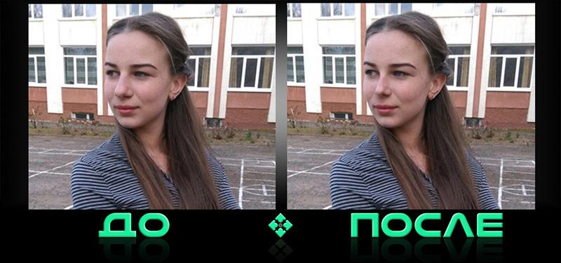 Уменьшить нос онлайн в редакторе Photo after
