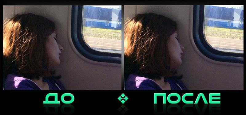 Уменьшение носа на фото в онлайн редакторе нашей студии