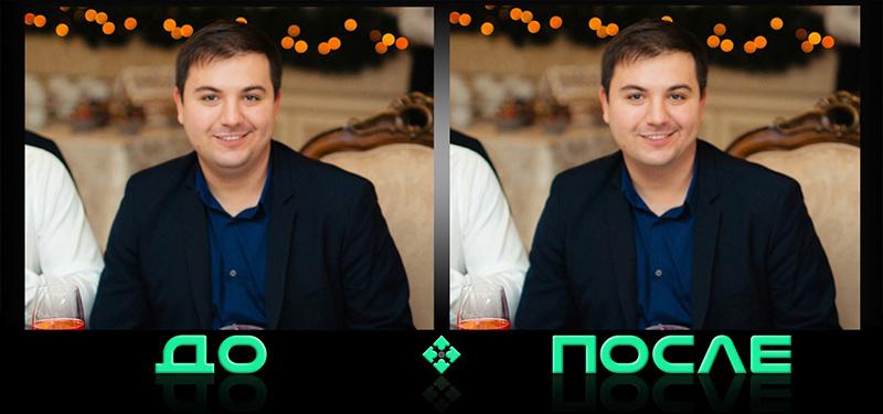 Как убрать двойной подбородок в фотошопе онлайн редактора изображений