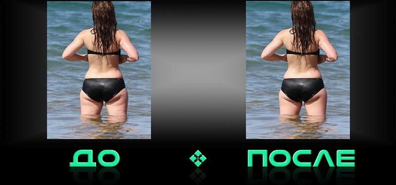 Фотошопим целлюлит в онлайн редакторе изображений