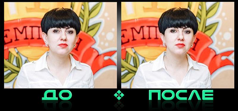 Фотошоп редактирование лица в онлайн редакторе Photo after
