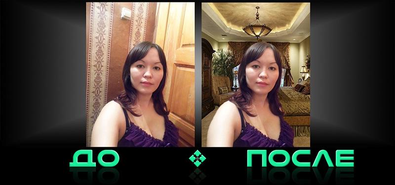 Фотошоп изменит фон онлайн бесплатно в Photo after