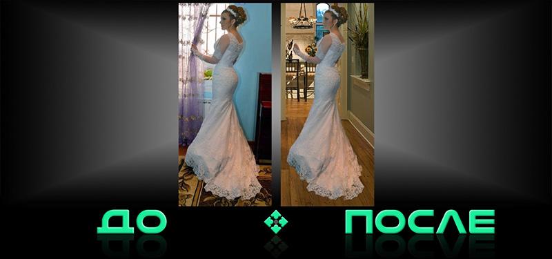Фотошоп онлайн соединит две фотографии в редакторе изображений