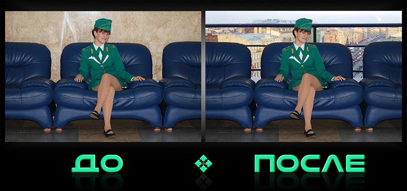 Фотошоп онлайн соединит две фотографии в редакторе Photo after
