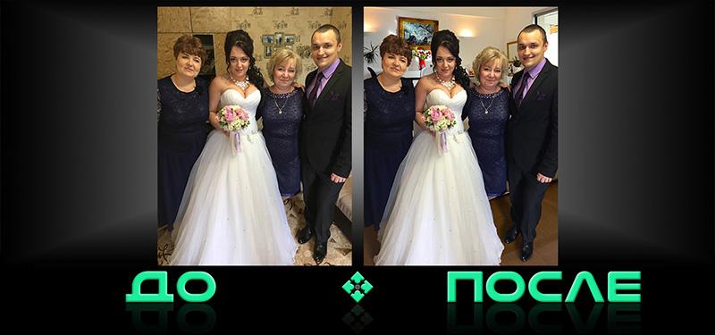 Заменить задний фон фото в творческой студии Photo after