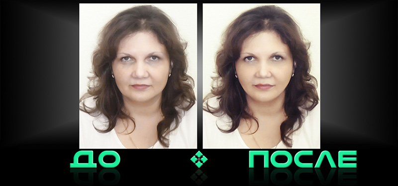 Фотошоп портретная ретушь в онлайн редакторе изображений