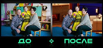Фотошоп онлайн совмещение фотографий в студии Photo after