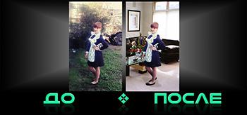 Заменить задний фон фото в студии Photo after